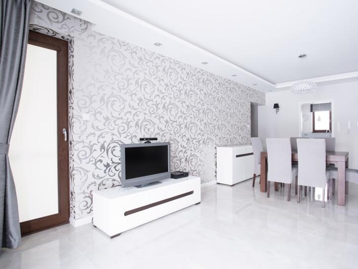 Tapeten 13 Ideen zur Wandgestaltung im Wohnzimmer - wandgestaltung wohnzimmer beispiele
