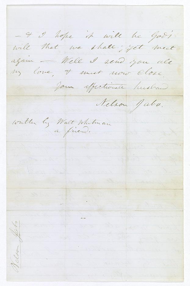 Walt Whitman Letter National Archives