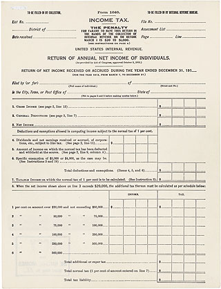 Today\u0027s Document from the National Archives - printable tax form
