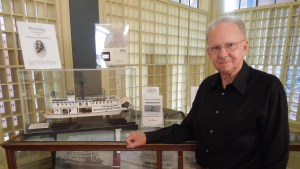 John Bowman with his model of the Washington
