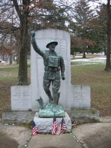 Wheeling's version of the Spirit of the American Doughboy has stood guard at Wheeling Park since 1931.