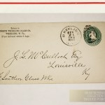 North Wheeling Glass Envelope stamped 1883 -from the personal collection of Thaddeus Podratsky