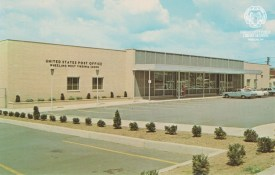Postcard of the new Wheeling Post Office at 2501 Chapline. OCPL Archives Postcard Collection.