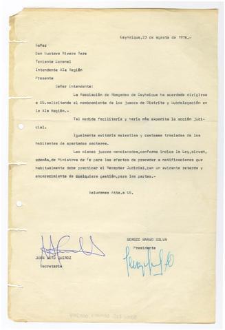 Item 000223 - Carta de Solicitud al Sr Gustavo Rivera - Archivo de