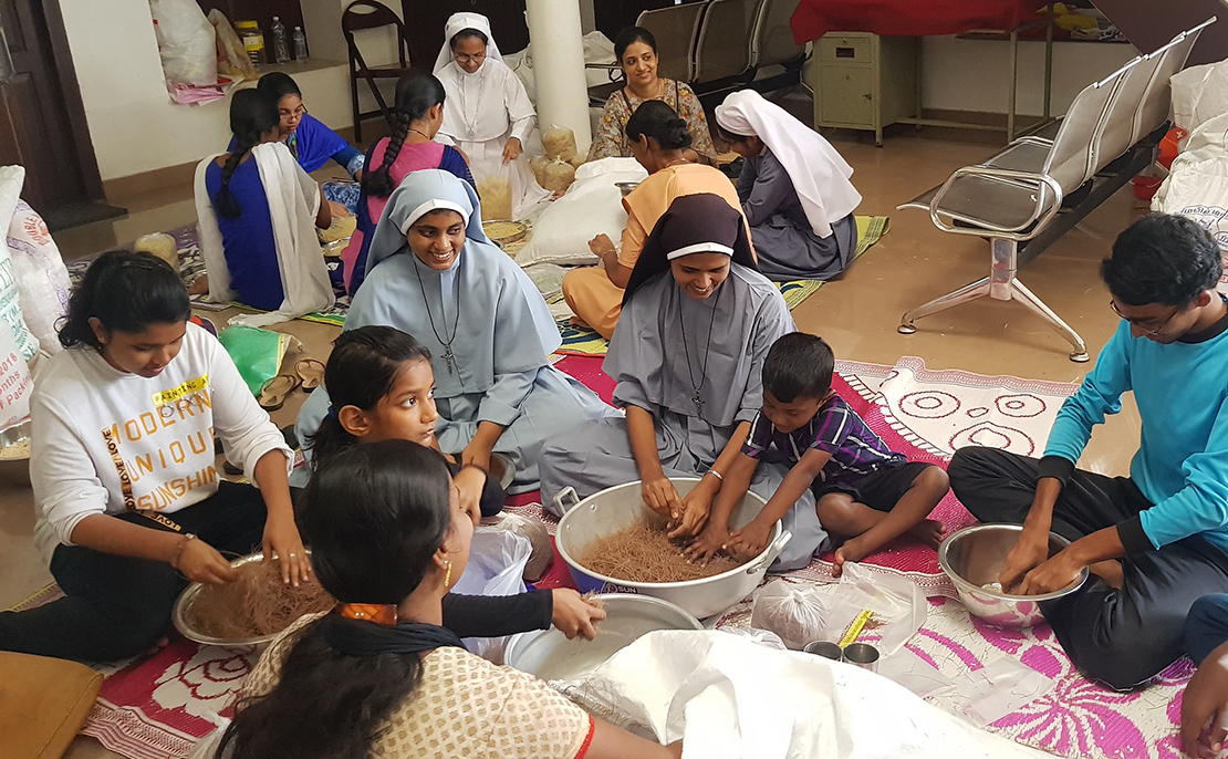 Catholic nuns in the forefront of relief work for flooded Kerala