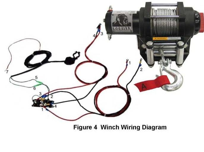 4 wheeler winch wiring diagram