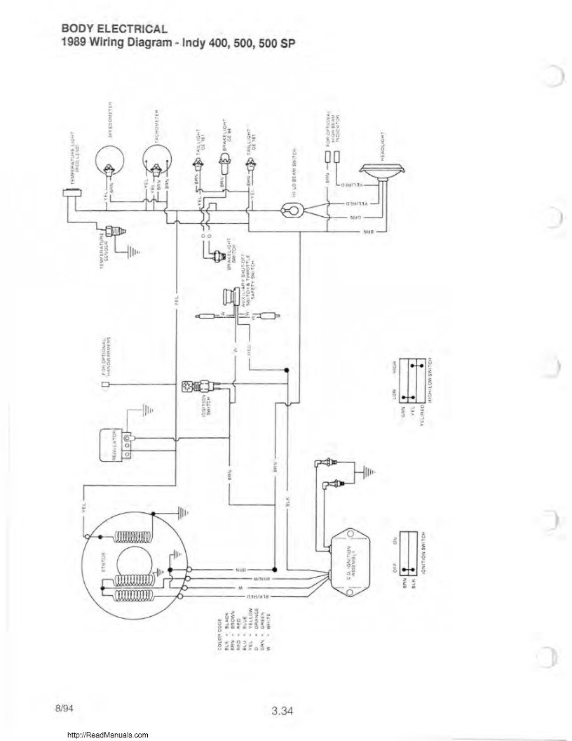 1990 polaris indy 400 wiring diagram