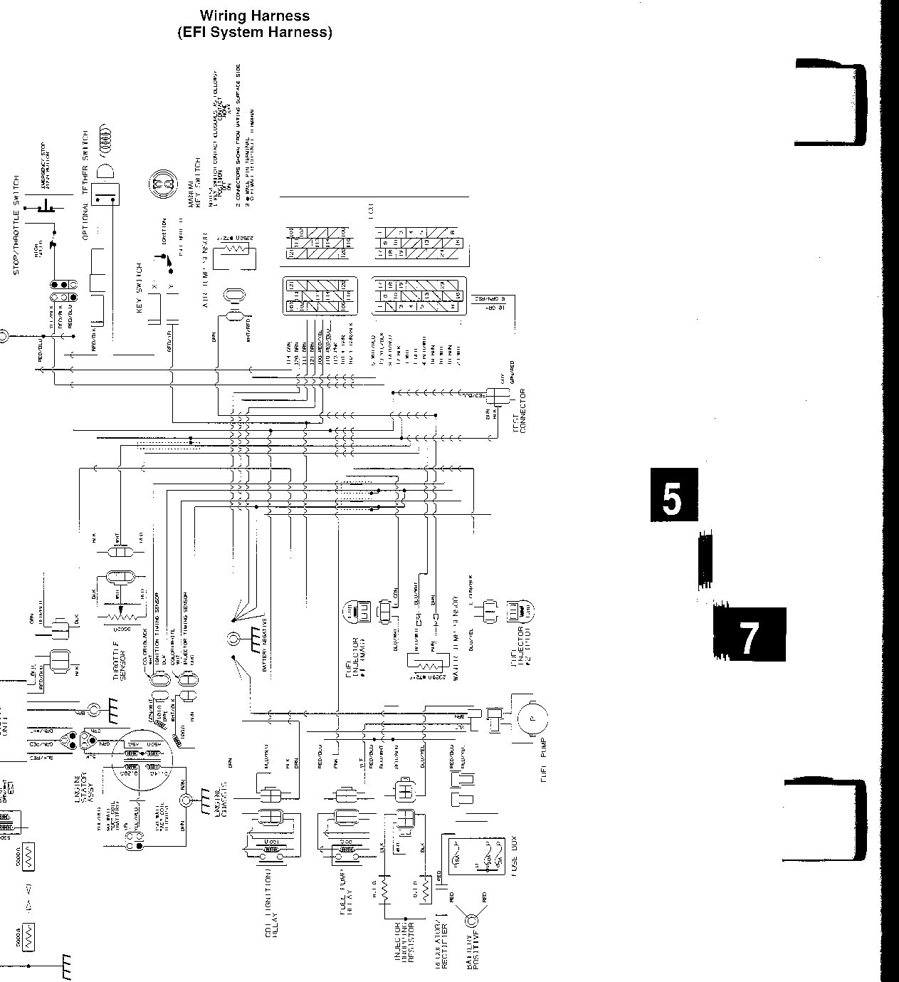 1995 arctic cat zr 580 efi wiring diagram