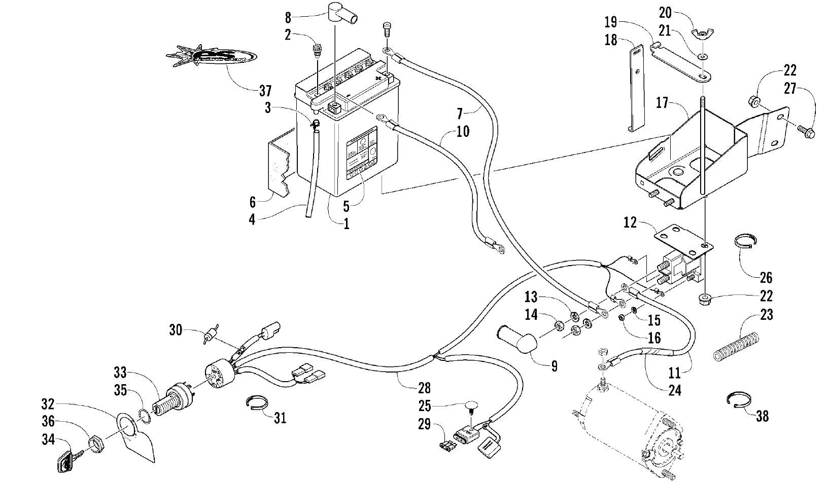 arctic cat 500 parts diagram