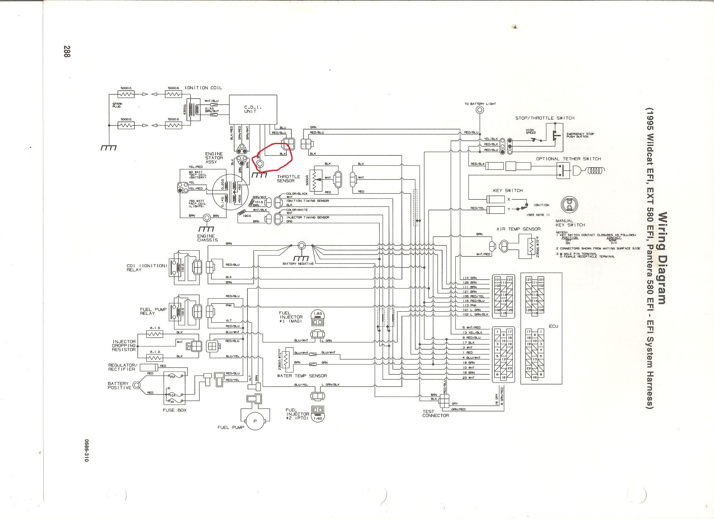 arctic cat 580 efi wiring diagram