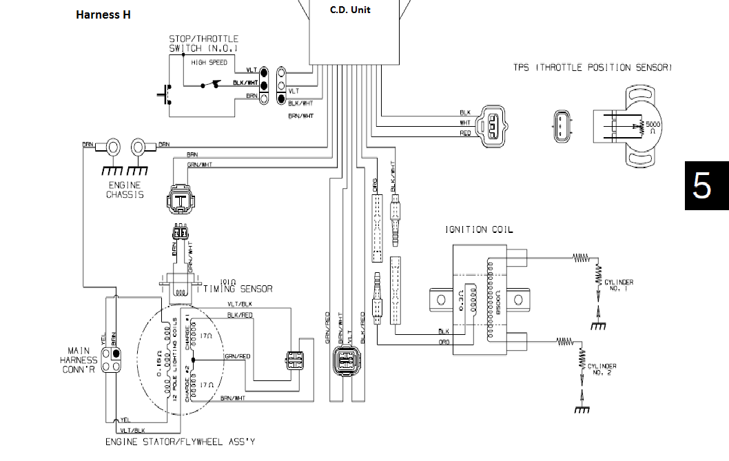 yamaha grizzly 700 wiring diagram