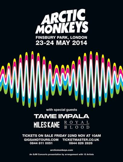 Arctic Monkeys Finsbury Park London May 2014