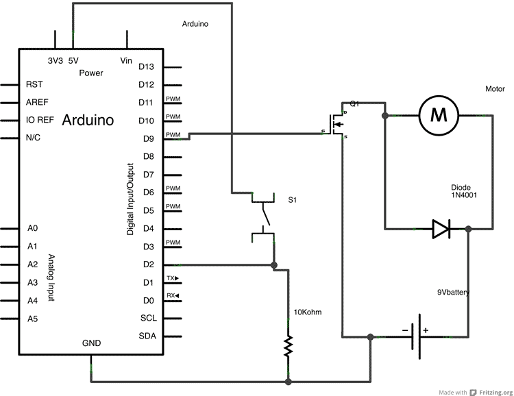 example circuit for an open collector output