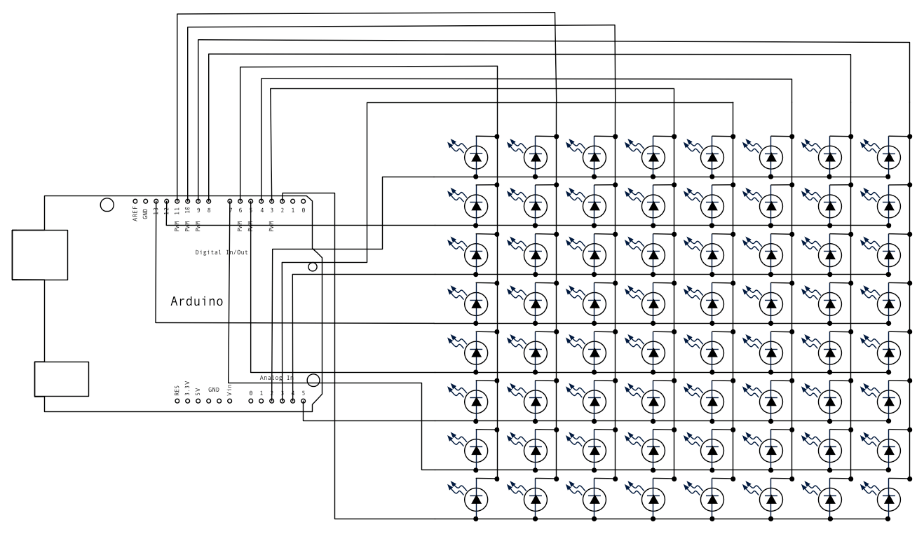 led matrix schematic