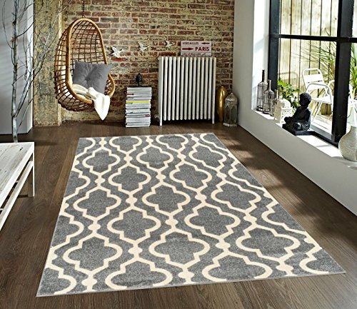 Medallion Moroccan Trellis 5u0027 X 7u0027 Grey U0026 Cream Area Rug Azul Homegoods  Collection