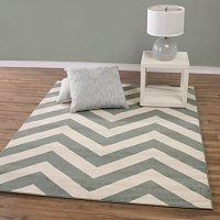 """Teal and Beige Contemporary Chevron Design 8 by 10 Modern Area Rug (7'10""""X9'10"""")"""