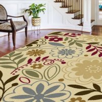 Universal Rugs Contemporary Floral 5 ft. x 7 ft. Area Rug , Beige