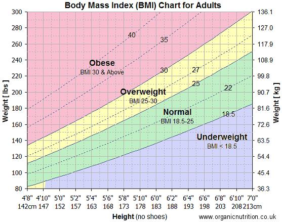 body-mass-index-bmi-chart Arena District Athletic Club