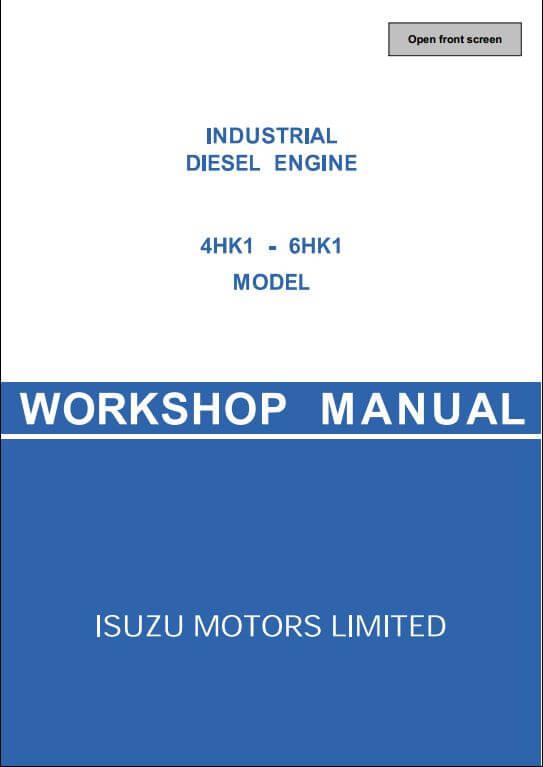 Isuzu Engine 4HK1-6HK1 Workshop Service Repair Manual A Repair