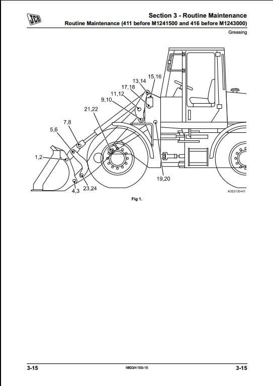 jcb loader wiring diagram