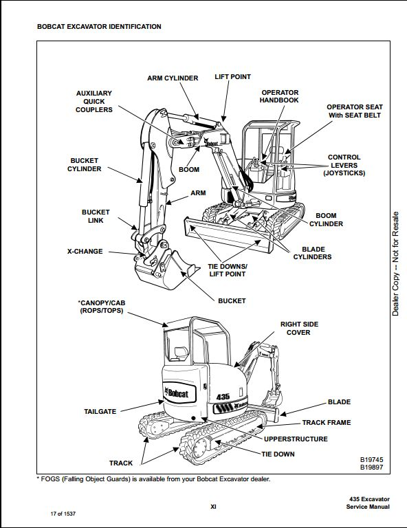 bobcat 435 electrical diagram