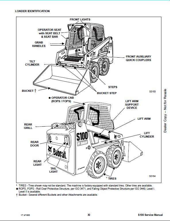 bobcat s100 wiring diagrams