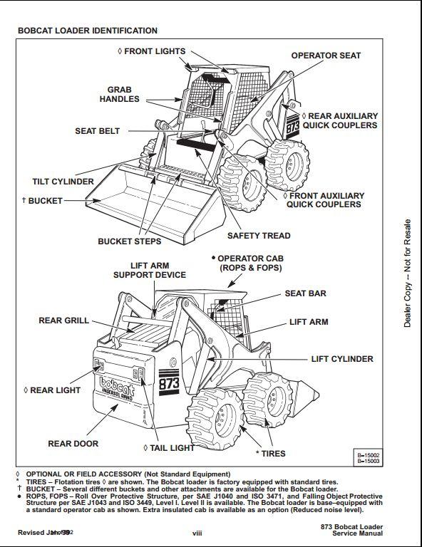 bobcat 873 hydraulic schematics