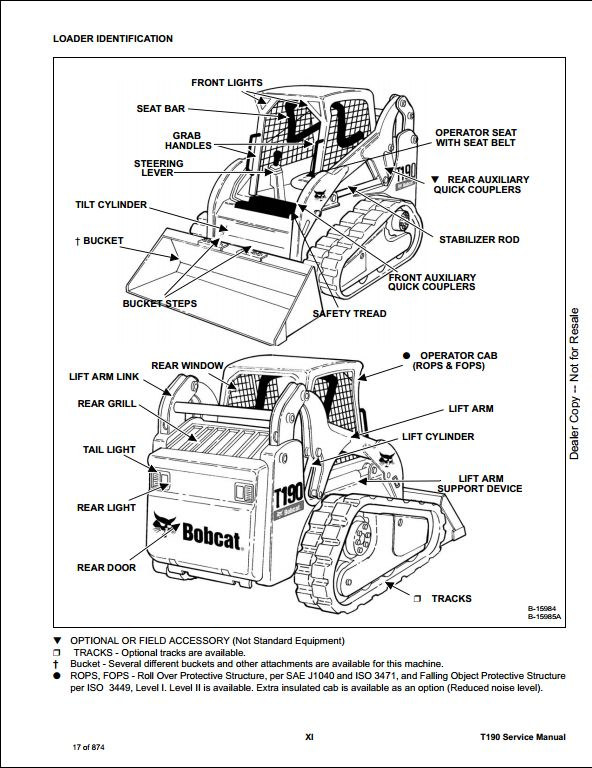 bobcat t190 engine diagram