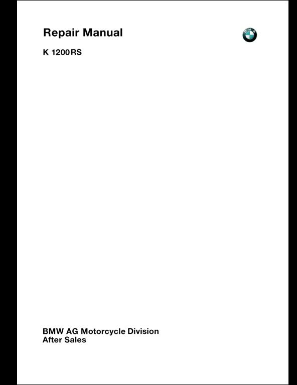 BMW Motorcycle A Repair Manual Store