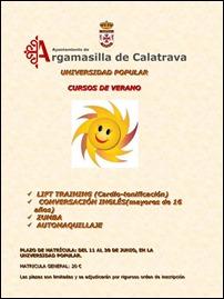 Nuevas propuestas formativas en los cursos de verano de la Universidad Popular de Argamasilla de Calatrava