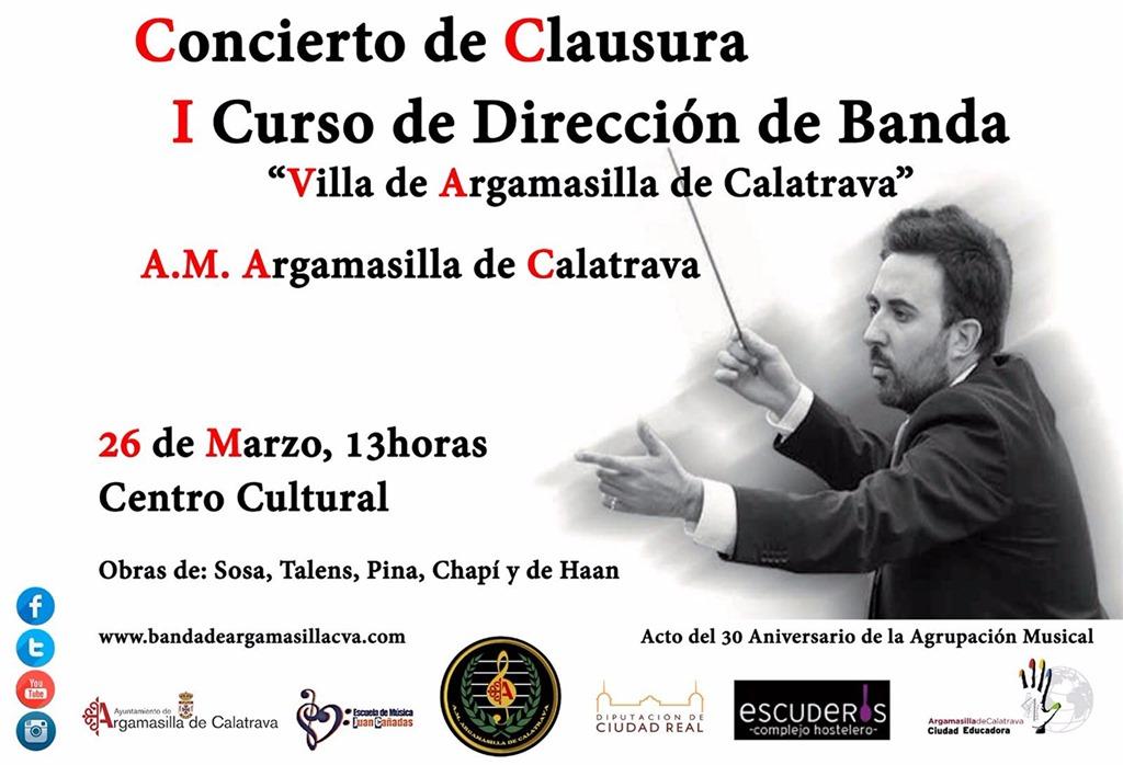 Argamasilla de Calatrava acoge el fin de semana el I Curso de Técnica de Dirección de Banda de Música que impartirá José Manuel García Pozuelo