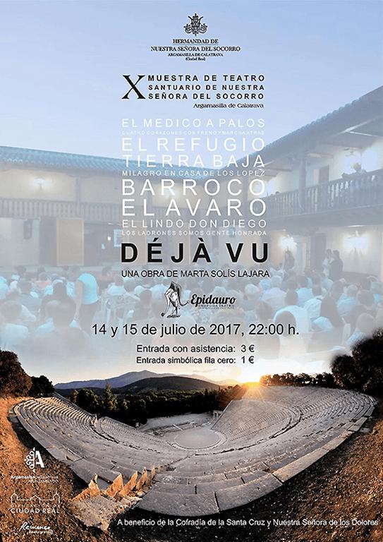 La X Muestra de Teatro que este viernes y sábado acogerá la ermita de la Virgen del Socorro hará experimentar el 'Déjà Vu'