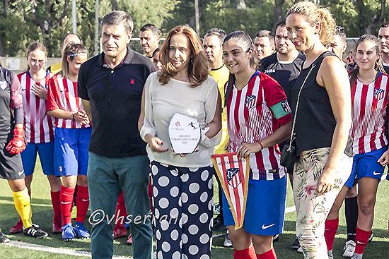 Los Veteranos del Calatrava y las féminas del Atlético de Madrid le marcaron un gol a la violencia de género