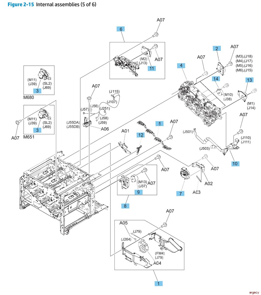 hp laserjet 2200 parts and diagram