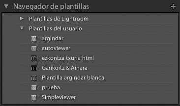 navegador de plantillas web-lightroom