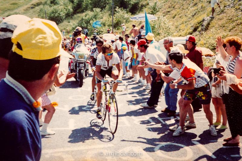Greg LeMond y Miguel Indurain