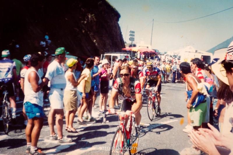 Tour de france 1990 - Luz Ardiden - Steve Bauer y Andy Hampsten