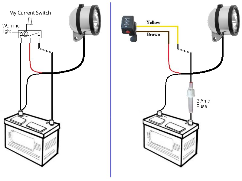 wiring a switch black white red