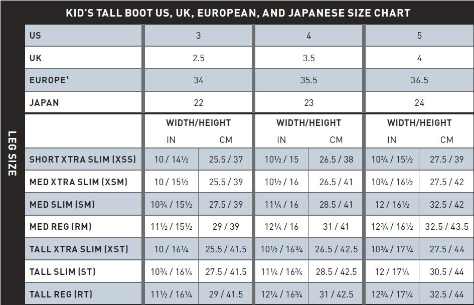 Size Charts Ariat