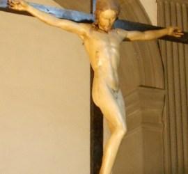 Michelangelo Buonarroti, 1493 circa, materiale legno policromato, 139 cm × 135 cm, sagrestia di Santo Spirito, Firenze.