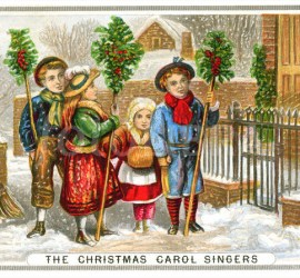 The Christmas carol singers