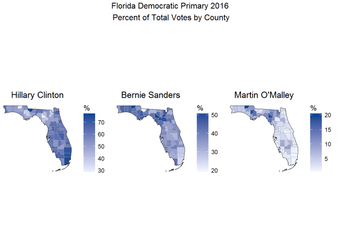 Mapping Election Results with R and Choroplethr