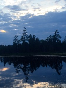 Northern Ontario silouette at dusk