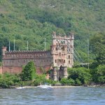 "Bannerman's castle wins in the ""quirk"" competition. According to Google, built by a family that had made their fortune buying military surplus at the end of the Civil War. This building, clearly visible from the rail line, served as advertisement..."