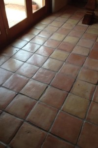 Saltillo tile BEFORE cleaning & sealing - Photo credit: AZ ...