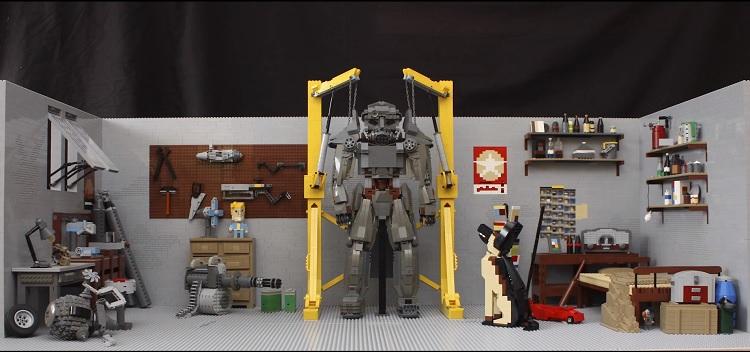 Así se ve el garage de Fallout 4 con la magia de LEGO