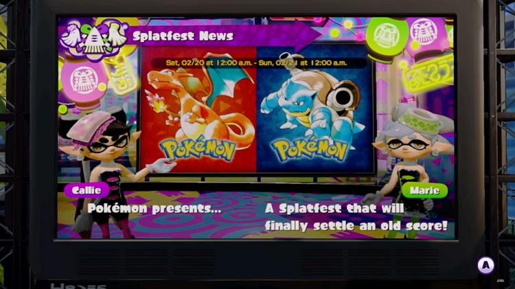 ¿Pokémon Red o Pokémon Blue en Splatfest?