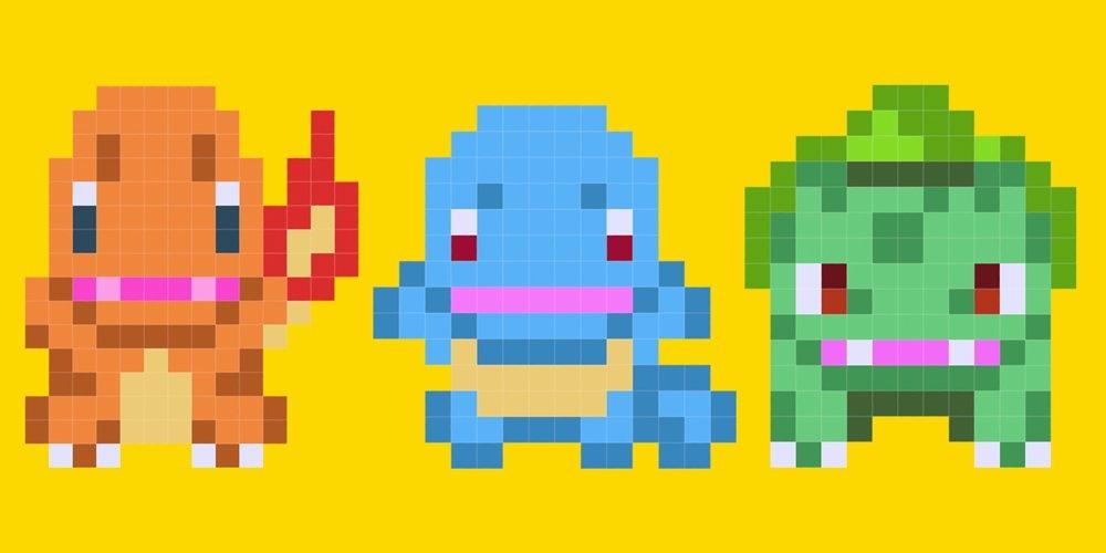 Juega como Bulbasaur, Charmander y Squirtle en Super Mario Maker