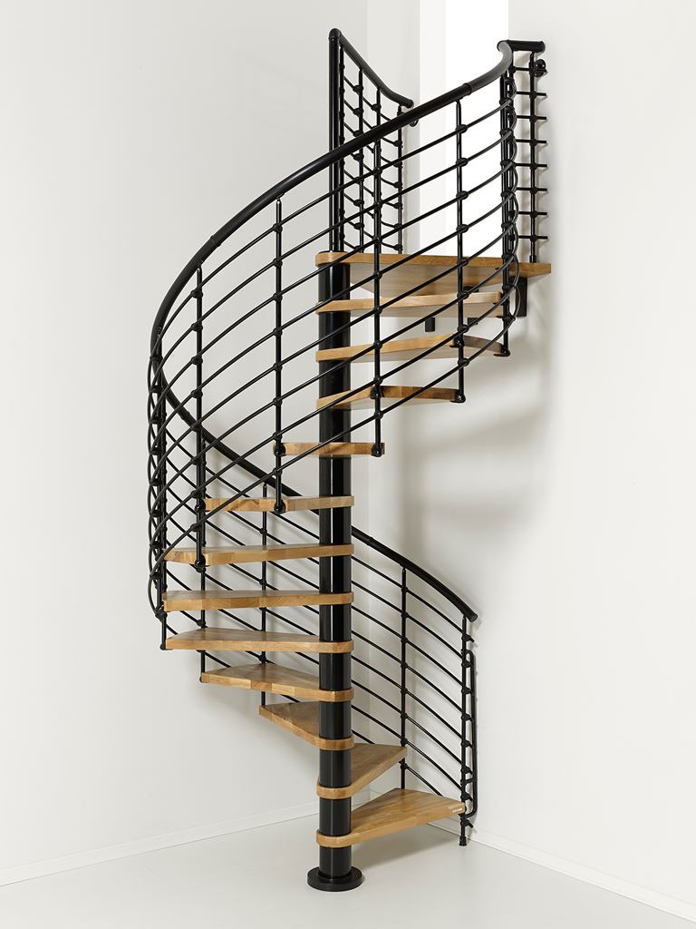 Oak70xtra Metal Steel And Wood Spiral Staircase Fontanot