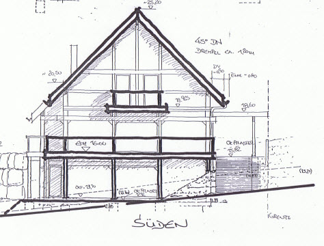 Shed Roof Gambrel furthermore Fachadas De Casas Dibujo Tecnico besides House Framing also 308 Agricultural Building And Equipment Plans also Teces 14. on house framing